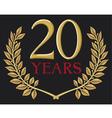 a golden laurel wreath - 20 years vector image