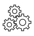 settings sign line icon sign vector image