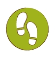 foot steps icon image vector image