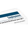 newspaper - employment vector image
