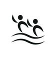 Synchronized swimming pictogram monochrome vector image