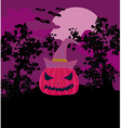 Halloween background with pumpkin and bat Abstract vector image