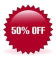 50 Off Sticker vector image vector image
