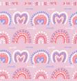 abstract modern boho rainbows seamless pattern vector image