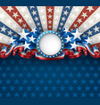 american background with round frame vector image vector image
