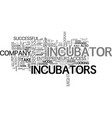 are startup incubators right for you text word vector image vector image