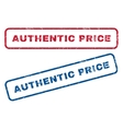 Authentic Price Rubber Stamps vector image vector image