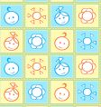 Baby seamless pattern vector | Price: 1 Credit (USD $1)