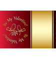 be my valentine - red background vector image vector image