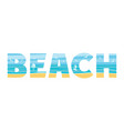 beach in double exposure vector image