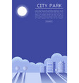 beautiful city park texture style concept vector image