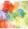 beautiful hand painted watercolor background vector image vector image