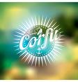 Best Summer in Corfu with typographic design vector image vector image