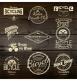 Bicycle set badges logos and labels for any use vector image vector image