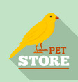 bird pet store logo flat style vector image vector image