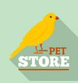 bird pet store logo flat style vector image