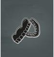 black denture vector image vector image