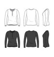 blank clothing templates vector image
