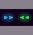 blue and green neon glasses vector image vector image