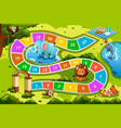 board game in animal theme vector image vector image