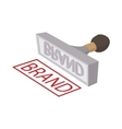 Brand stamp icon cartoon style vector image