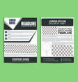 brochure design flyer template with green vector image vector image