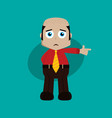 businessman manager at work pointing finger vector image