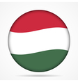 button with waving flag of Hungary vector image