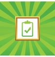 Clipboard YES picture icon vector image
