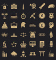 crown icons set simple style vector image vector image