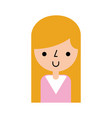 cute woman avatar character vector image