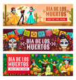 day dead dia de los muertos holiday in mexico vector image vector image