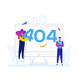 error 404 page - flat design style colorful vector image vector image