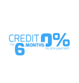 Free credit typography 6 months credit free vector image