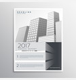 gray brochure design template for your company vector image vector image