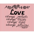 Hand lettering Love always made next to the vector image vector image