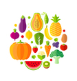 Healthy lifestyle design element with fruits vector image vector image