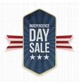 Independence Day Sale festive Label vector image vector image