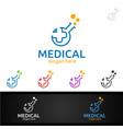 lab cross medical hospital logo for emergency vector image vector image