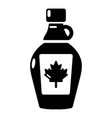maple syrup icon simple black style vector image vector image
