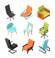 office furniture different chairs and armchairs vector image vector image