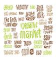 organic market kit vector image vector image