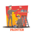 painters painting wall painting service workers vector image vector image