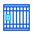police prison bar gate icon outline vector image vector image