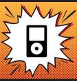 portable music device comics style icon vector image