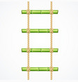 realistic 3d detailed green bamboo ladder vector image vector image