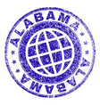 scratched textured alabama stamp seal vector image vector image