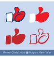 set of red mitten thumb up icons vector image vector image