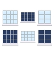 set of various window compositions vector image vector image