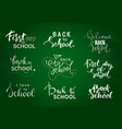 set of welcome back to school labels school vector image vector image